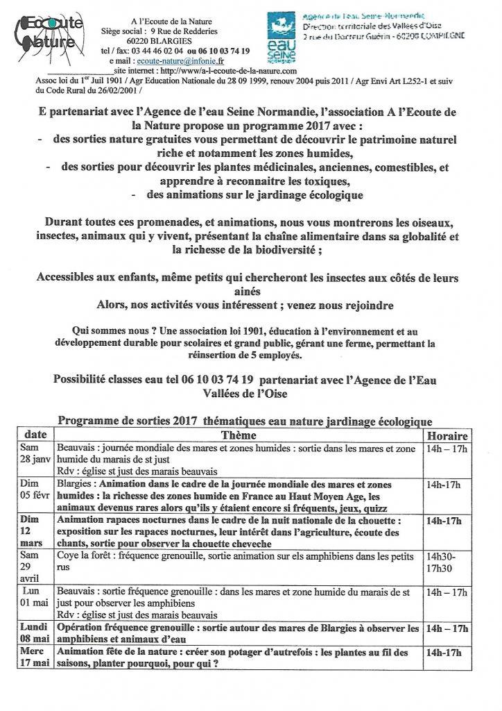 3è page programme sorties 2017